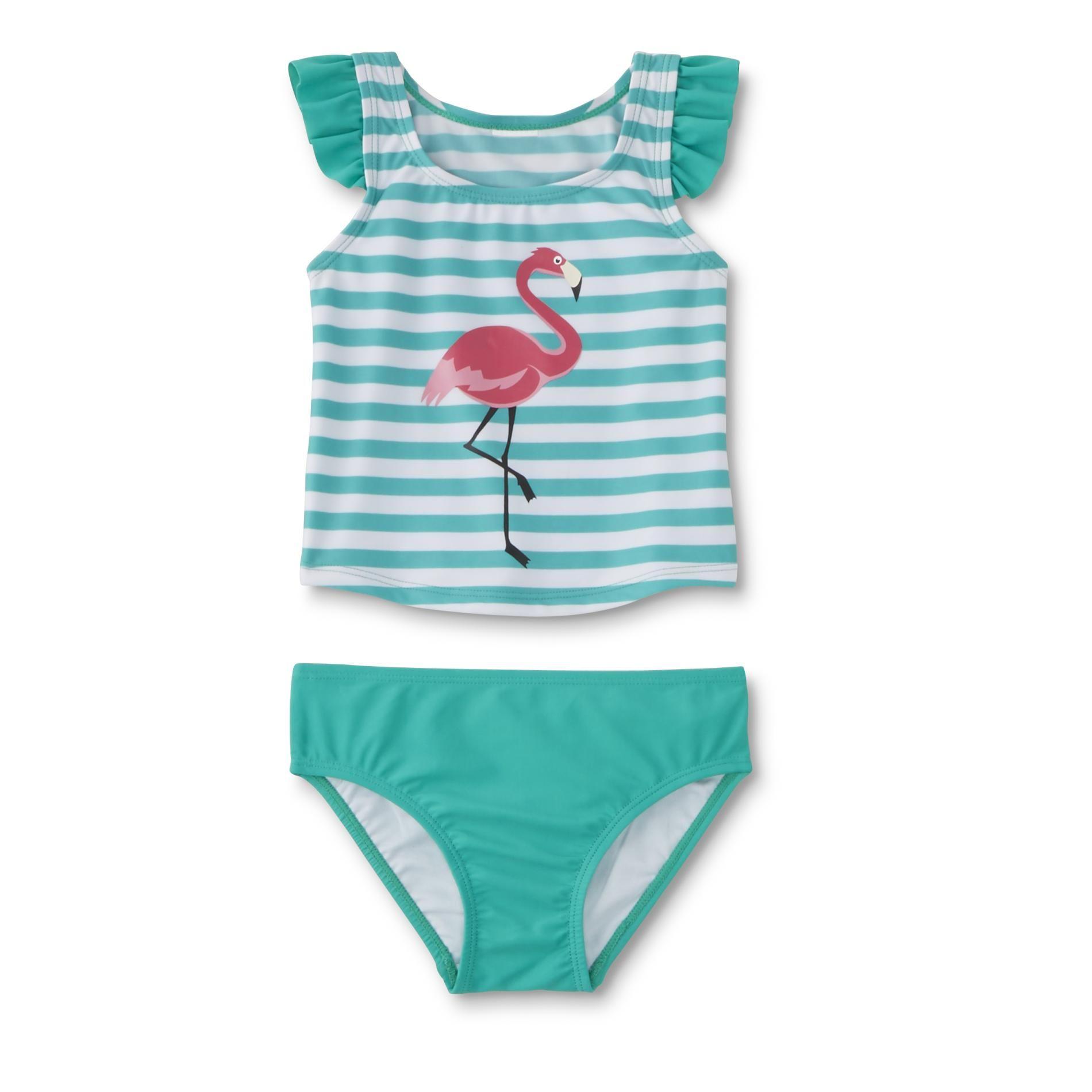 ea45557a80 #Kmart - WonderKids Infant & Toddler Girls' Tankini Swim Top & Bottoms -  Flamingo