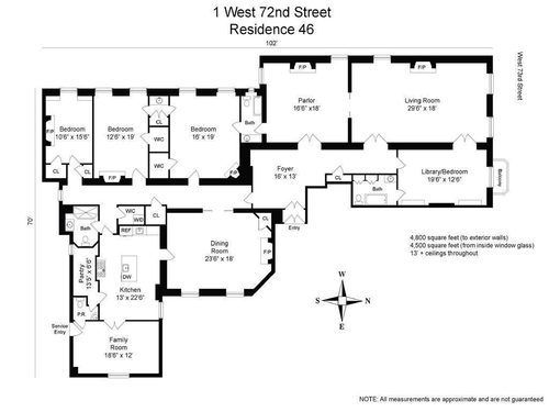 Truly Bizarre Dakota Pad Won T Give Up Returns For 14 5m With Images Floor Plans Apartment Floor Plans Dakota