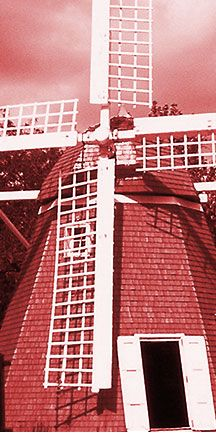 Danish Windmill imported from Denmark and rebuilt in Kenmare North Dakota
