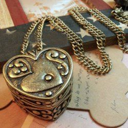 $2.27 Retro Style Heart Shape Pendant Alloy Necklace For Women
