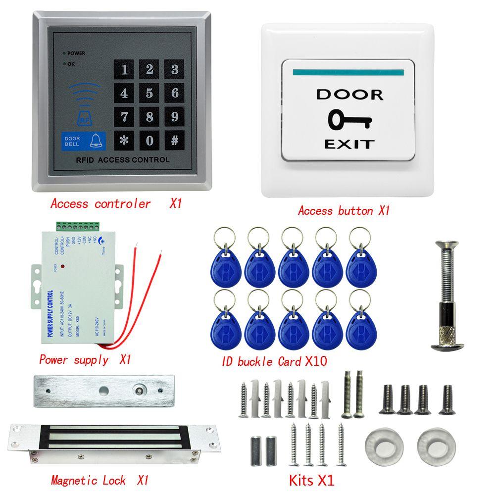 Danmini Mjpt01 Intelligent Lock 620 Lbs Kit Electric Door Lock Rfid 5 15cm Access Control Id Card Passw Access Control Door Lock Security Access Control System