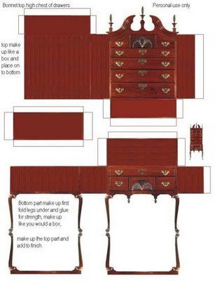 Bevorzugt Des meubles miniatures à imprimer | Miniatures | Pinterest  WE35