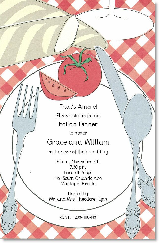 Italian Placesetting Party Invitations