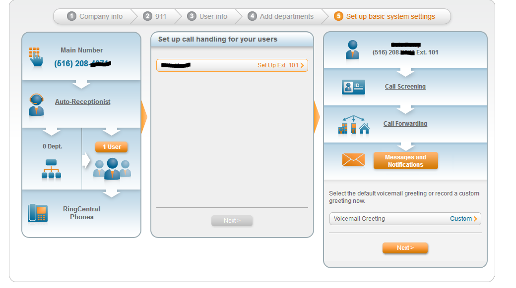 RingCentral Online Easy Setup Experience. A great