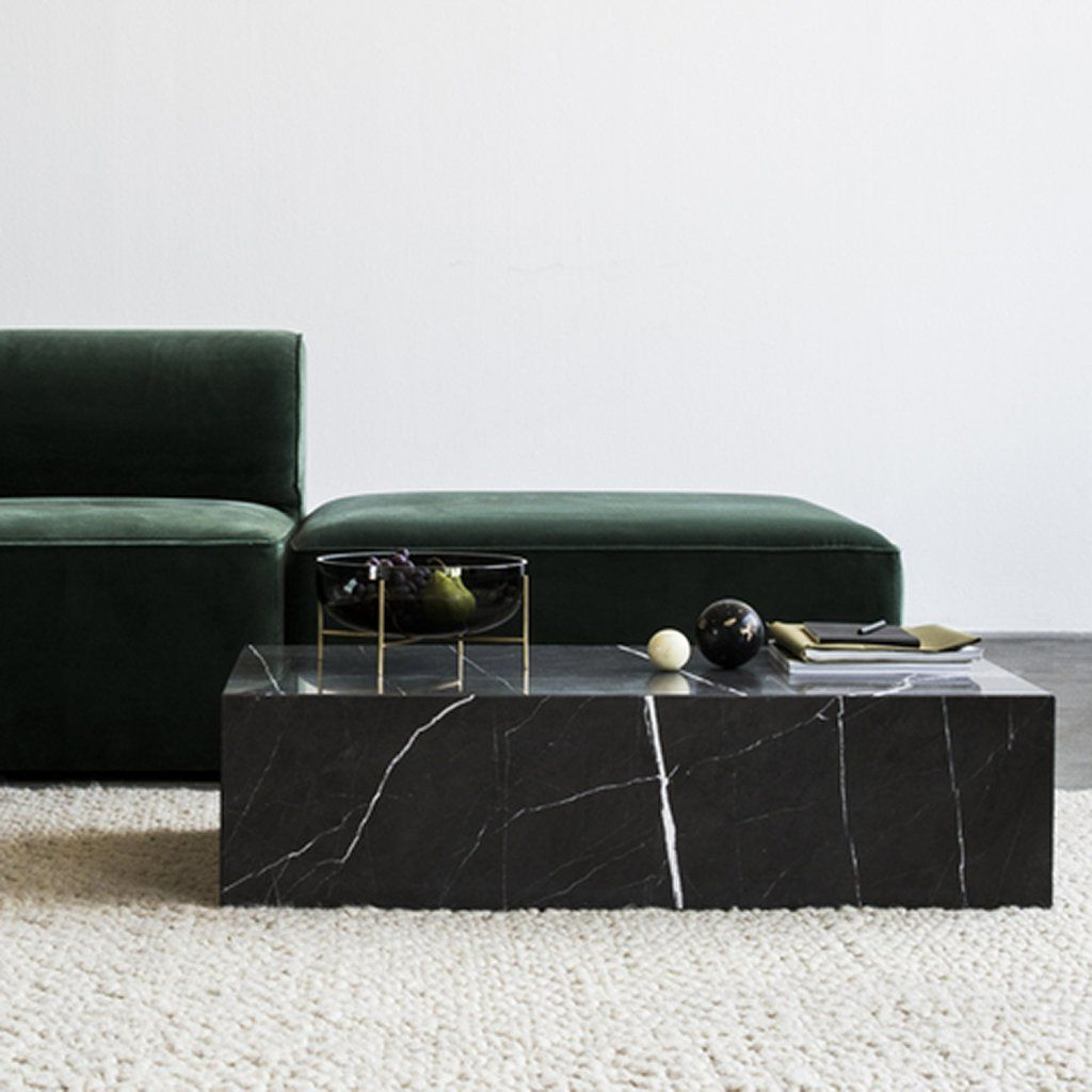 Plinth Low In 2020 Marble Coffee Table Marble Furniture Black Marble Coffee Table