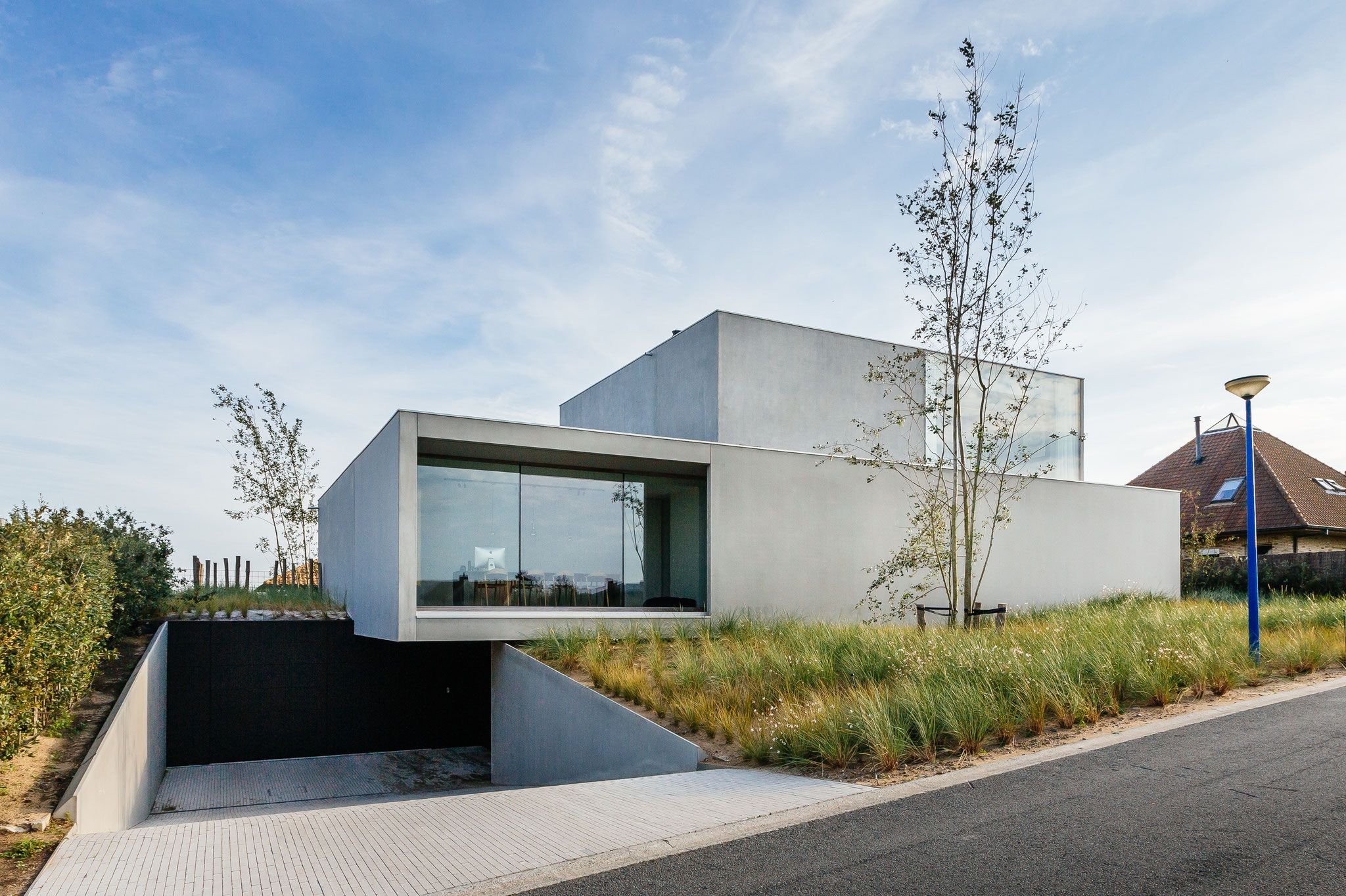 Einfache wohnarchitektur hall snel huizen bouw modulair bouwen prefab beton huizen huizen in