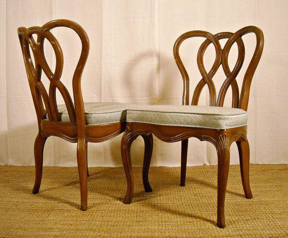 Hollywood Regency Dining Chair Set Four French Pretzel Back