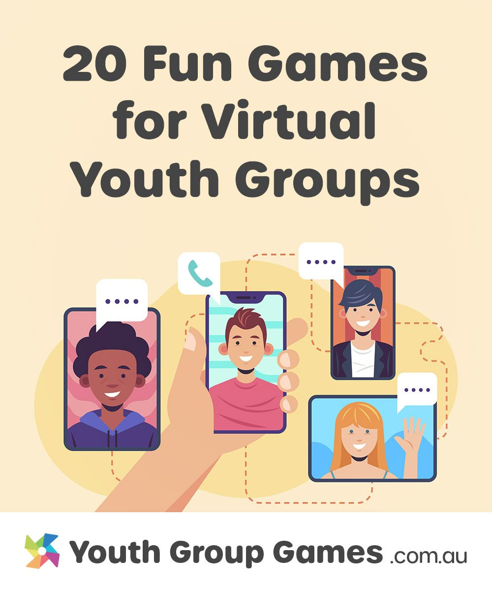 20 Fun Games For Virtual Youth Group Or Small Group Meetings In 2020 Youth Group Bible Games For Youth Youth Group Games