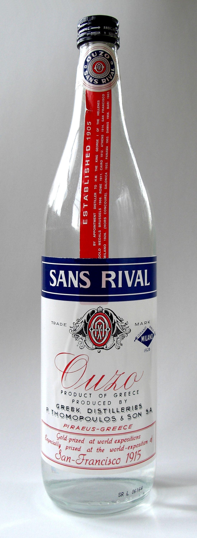 Ouzo Sans Rival Bottle Jpg 1100 3000 Ouzo Greek Wine Greece