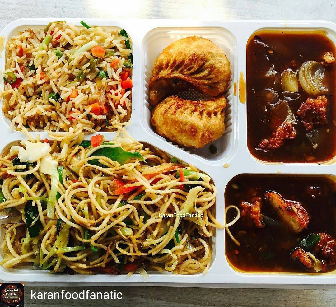 Via Karanfoodfanatic The Best Way To Get The Best Of Indian Chinese Food A Chinese Thali I Opted F Indian Food Recipes Food Garlic Sauce For Chicken