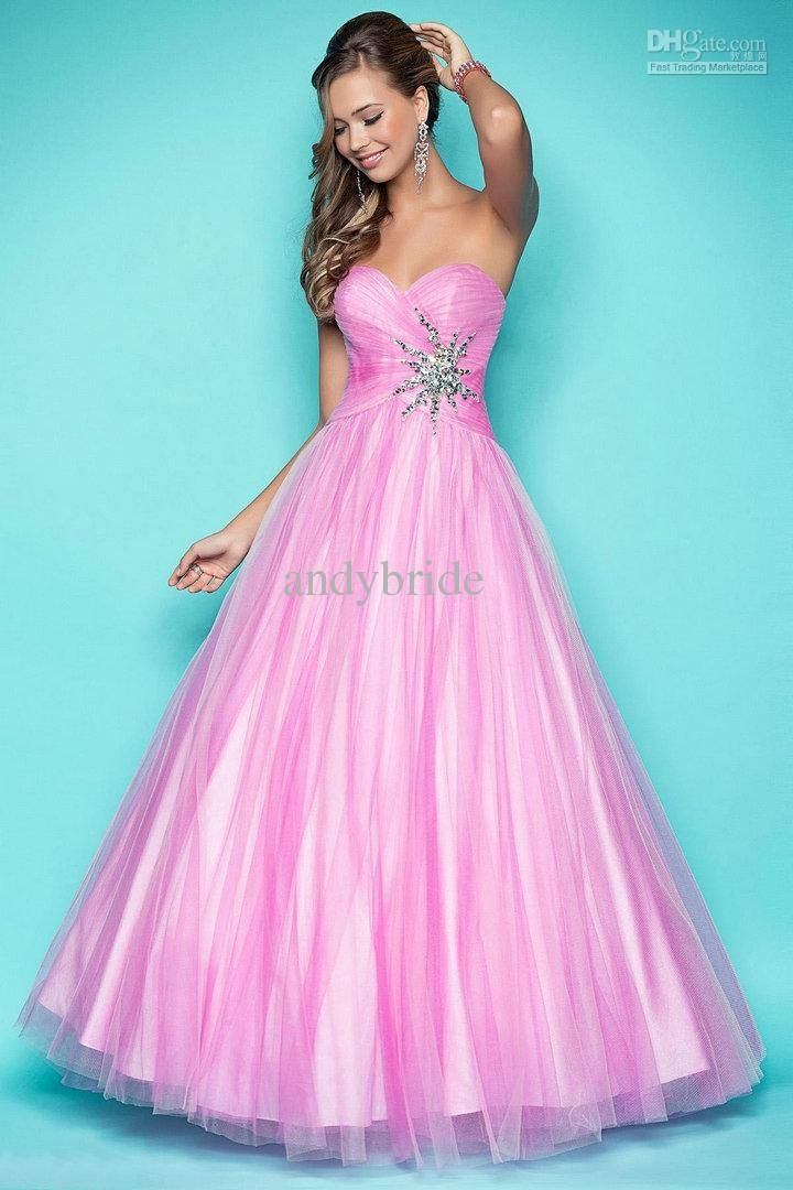 affordable-pink-and-yellow-tulle-sweetheart.jpg (720×1080) | Dresses ...
