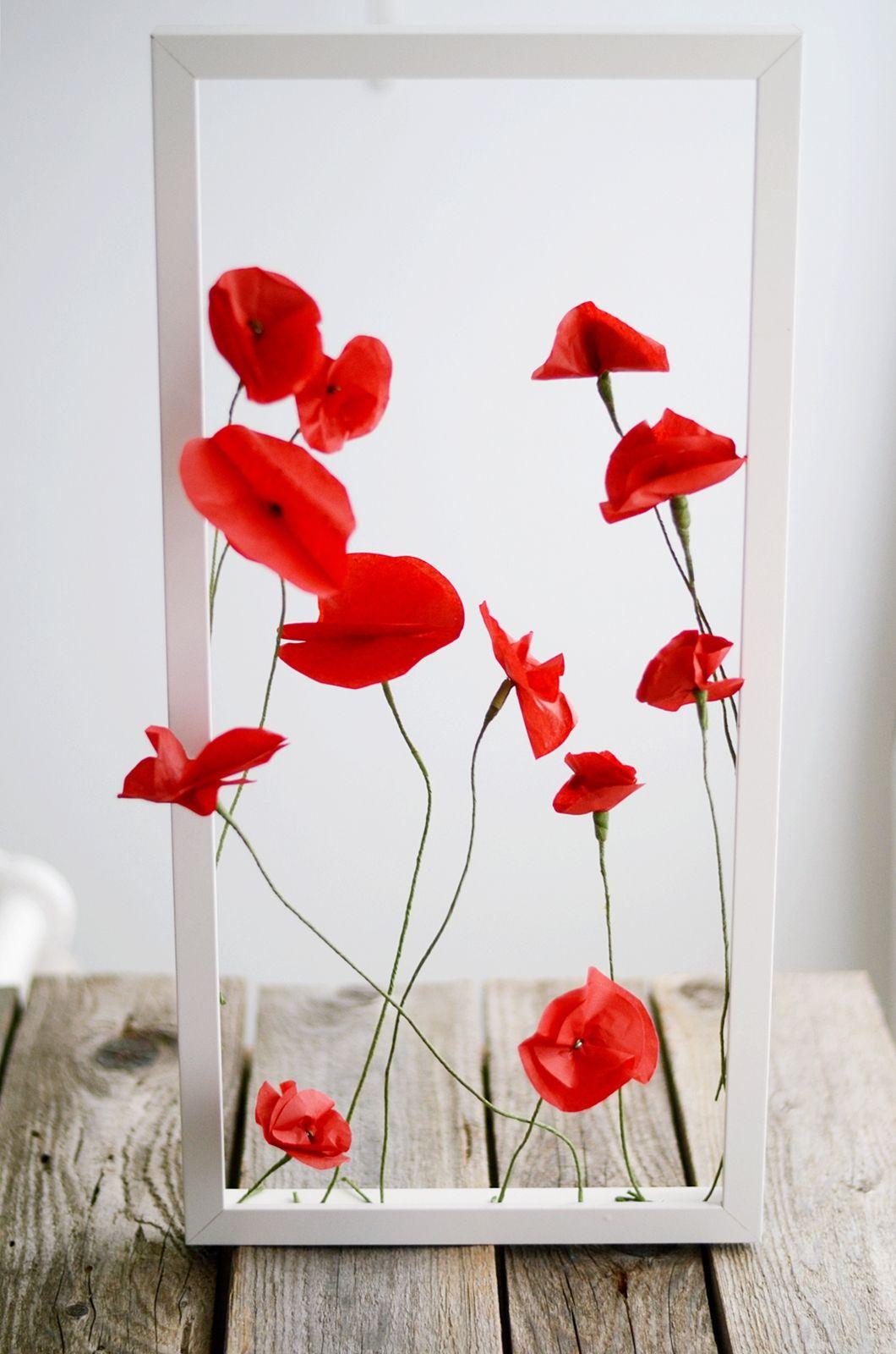 S I N N E N R A U S C H Nachmachtipp Klatschmohn Aus Seidenpapier Blumen Basteln Aus Papier Blumen Basteln Seidenpapier