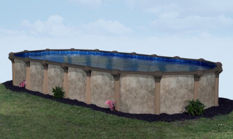 Laguna 12 X 20 Oval Resin Hybrid Above Ground Pool With Standard Package 52 Wall 59535 Above Ground Pool In Ground Pools Above Ground Pool Liners