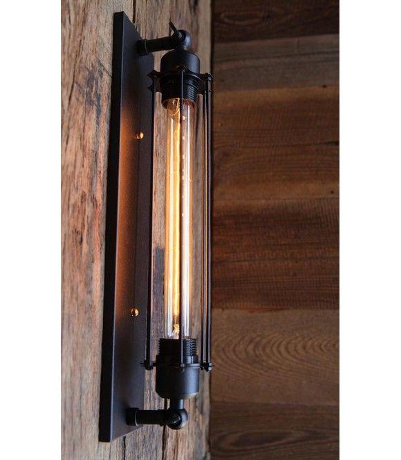 applique murale lampe tube arm e par des barres acier. Black Bedroom Furniture Sets. Home Design Ideas