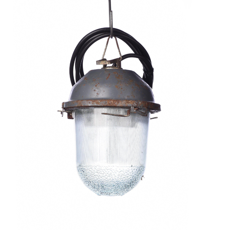 Old Hanging pendant industrial loft Lighting retro ussr glass vintage lamp