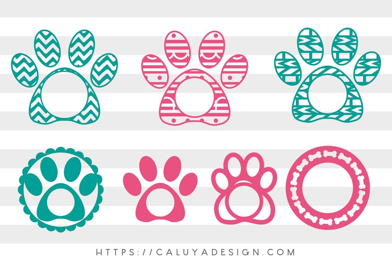 Free Dog Paw Monogram Svg Png Eps Dxf By Caluya Design Free Monogram Fonts Monogram Svg Free Svg
