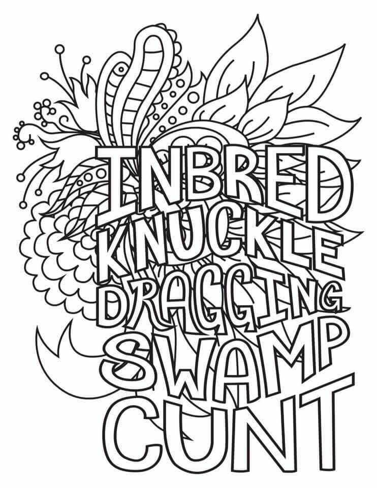 Pin by Edna M on adult swear words coloring pages | Swear ... | free printable coloring pages for adults only swear words