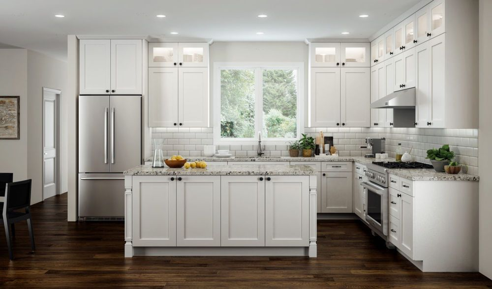 Ebay White Kitchen Cabinets All Wood RTA 10X10 Transitional Shaker Kitchen Cabinets in Elegant
