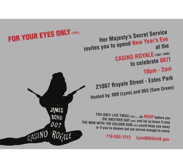 Casino royale 007 bond invitation the names bond james bond casino royale 007 bond invitation the names bond james bond stopboris Choice Image