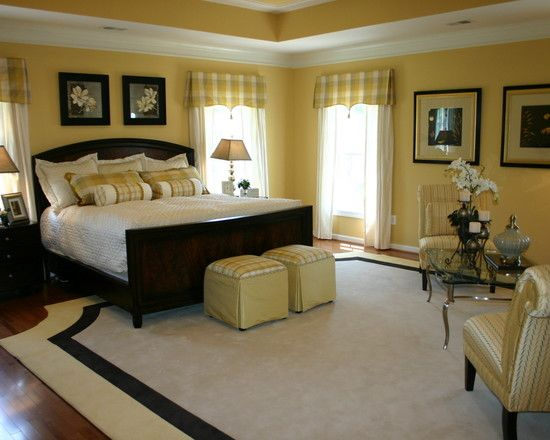 More Photos Http Foter Com Bedroom Furniture I Would Choose A Different Color Scheme But It S A Traditional Bedroom Yellow Master Bedroom Bedroom Design