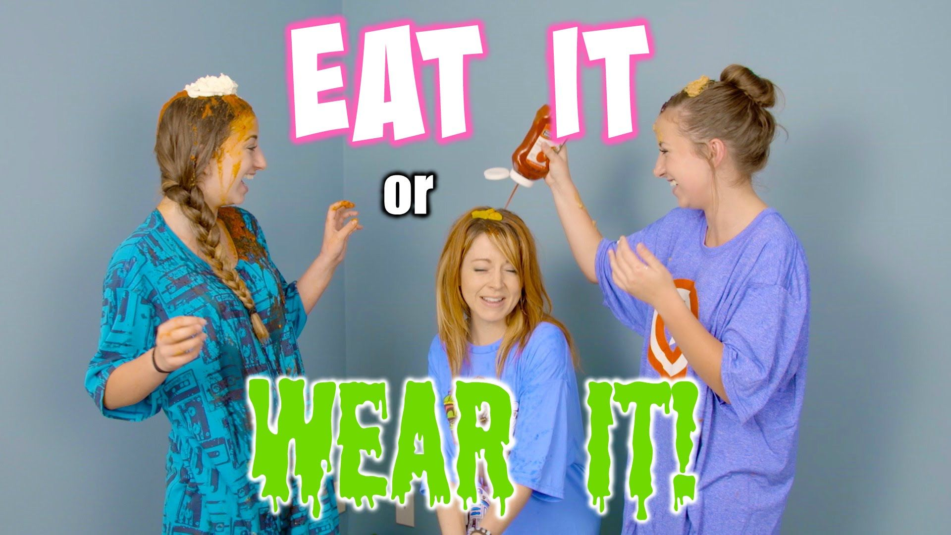 watch us do the eat it or wear it challenge with our good friend