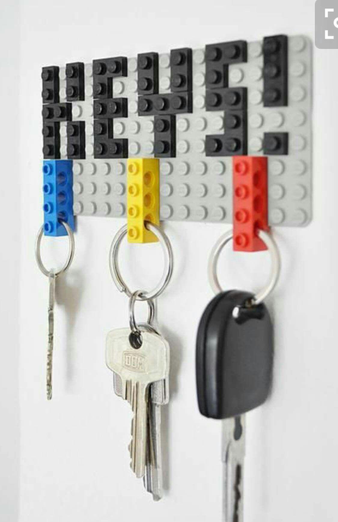 pinmatrjoscreates on lego  lego diy lego key holders