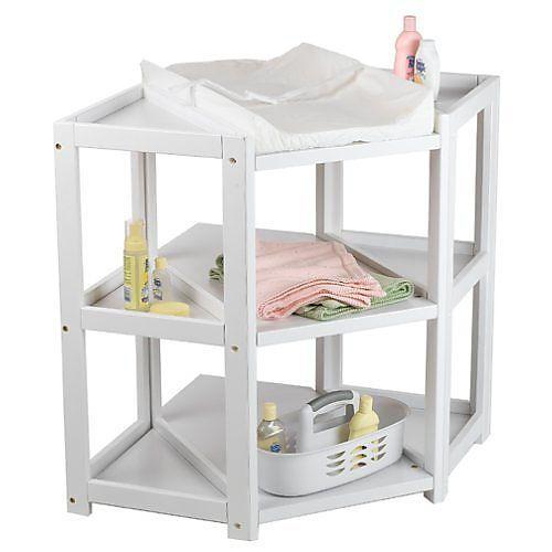 Badger Basket Diaper Corner Tm Baby Changing Table White