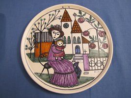Plate from Kupittaan Savi and Laila Zink. See more at http://retoro.se/index.html