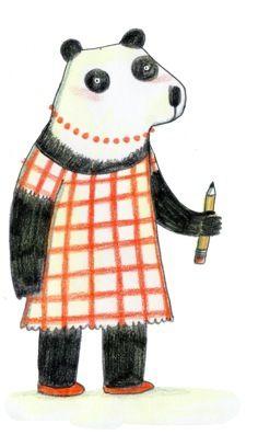 panda illustration Marianne Dubuc