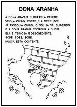 Www Misturadealegria Blogspot Com Br Folclore Dona Aranha Imprimir