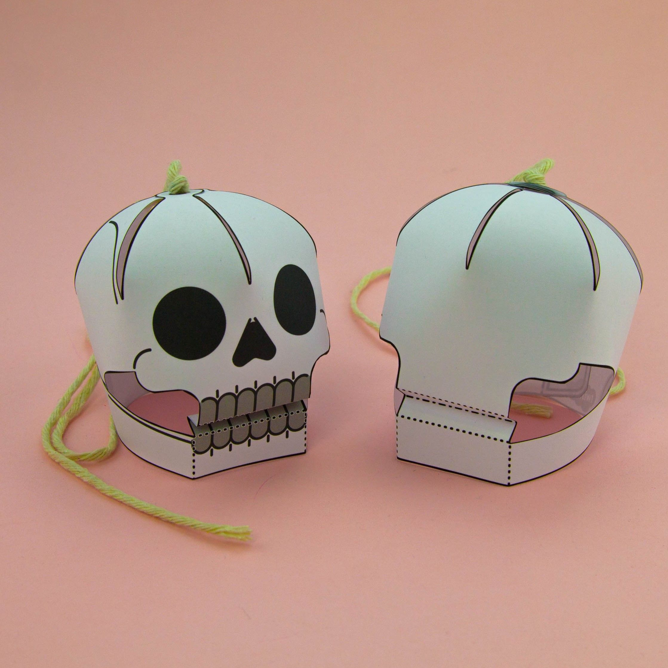 Simple 3d Halloween Skull Activity Display Paper Craft For