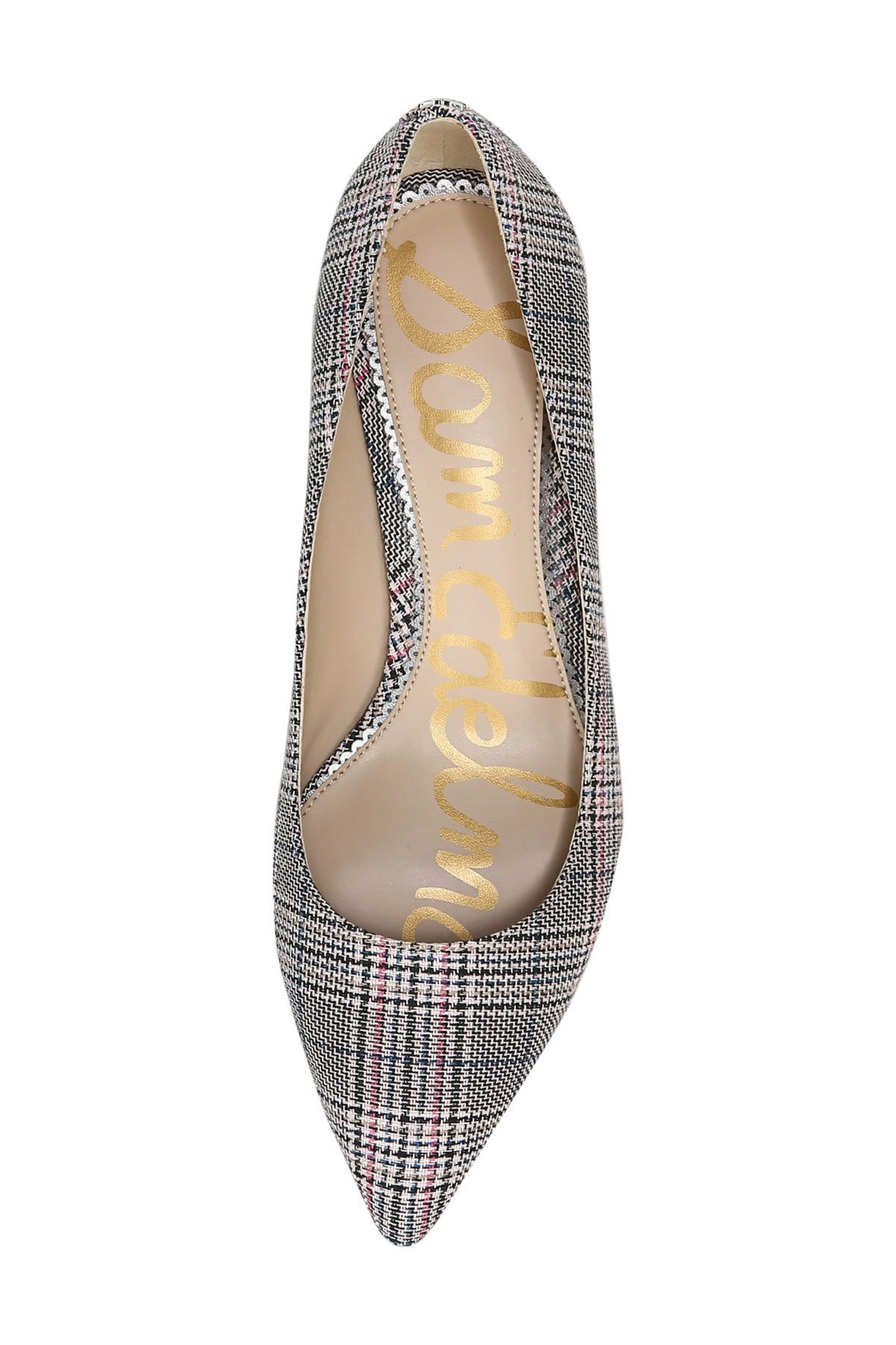 Sam Edelman Dori Plaid Kitten Heel Pump In 2020 Kitten Heel Pumps Pumps Heels Kitten Heels