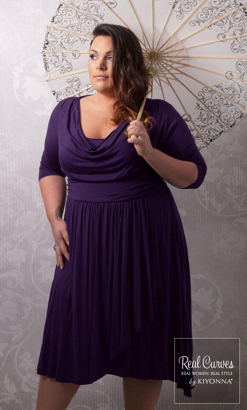Casual wedding dresses for fuller figures  Real Curves for Draped in Class Dress  prendas de vestir y