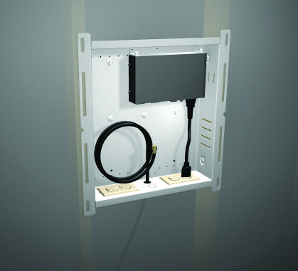 Hidden Cable Box Wall Mount Hiding Cables When Mounting A