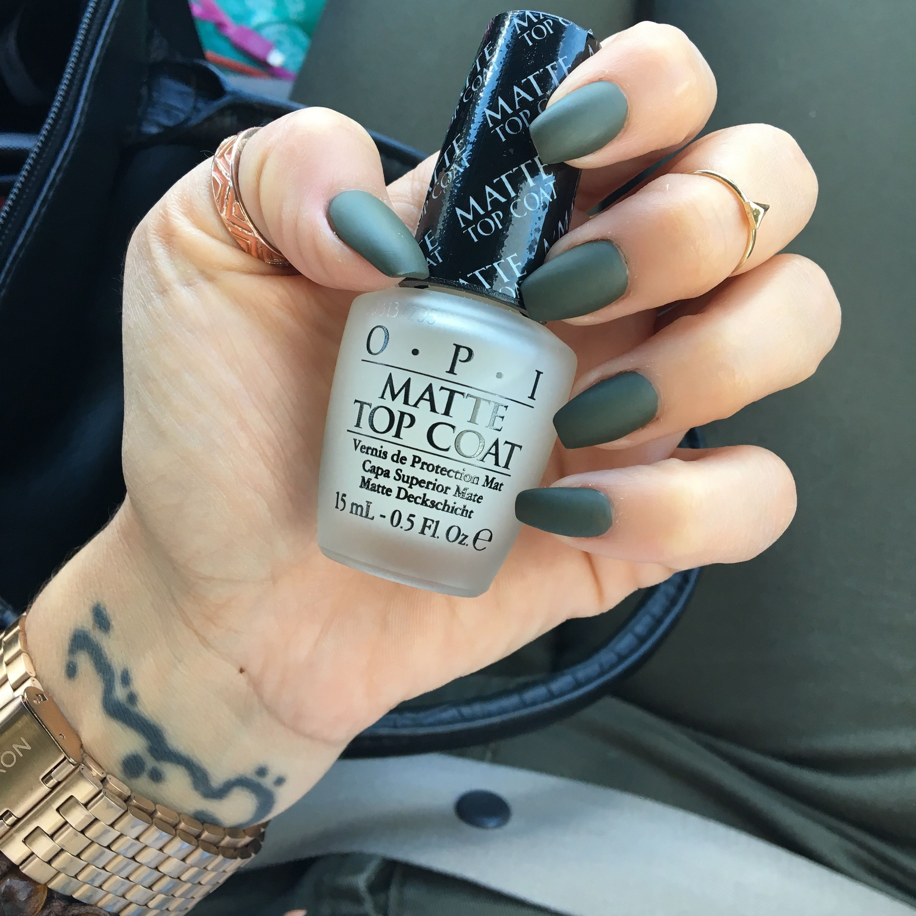OPI Suzi the First Lady of Nails with OPI Matte Top Coat
