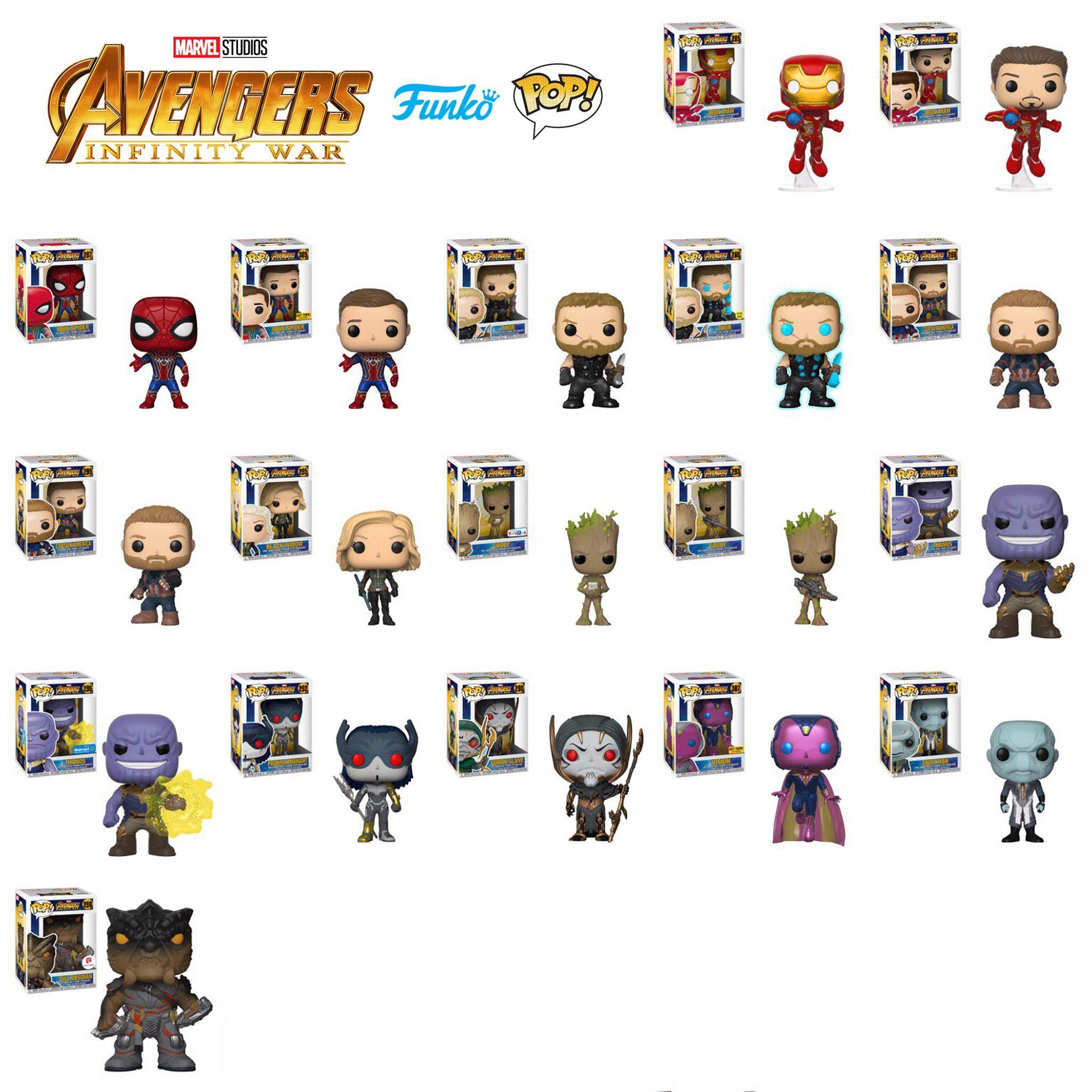 Avengers Infinity War Funko Pop Figures Revealed Vingadores Bonecos Funko Pop Funko Pop