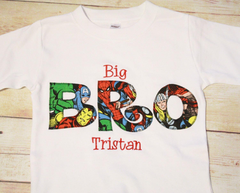 Big Bro Shirt, Superhero Themed - Big Brother Shirt by ...