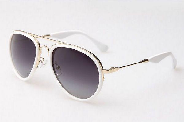 cdf5e036ca Vintage Polarized Reflective Aviators Sunglasses For Women   Men Metal  White Frame