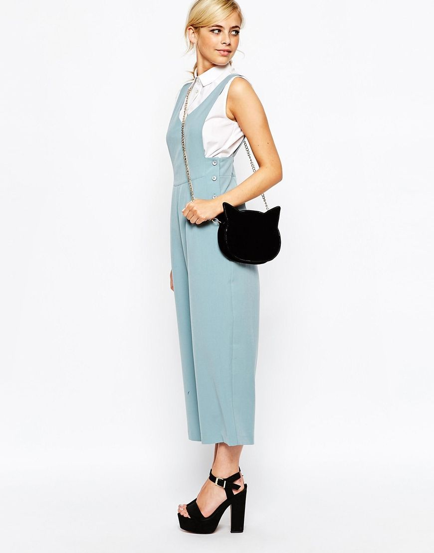 Image 4 ofDahlia Dungaree Jumpsuit with Side Button Detail