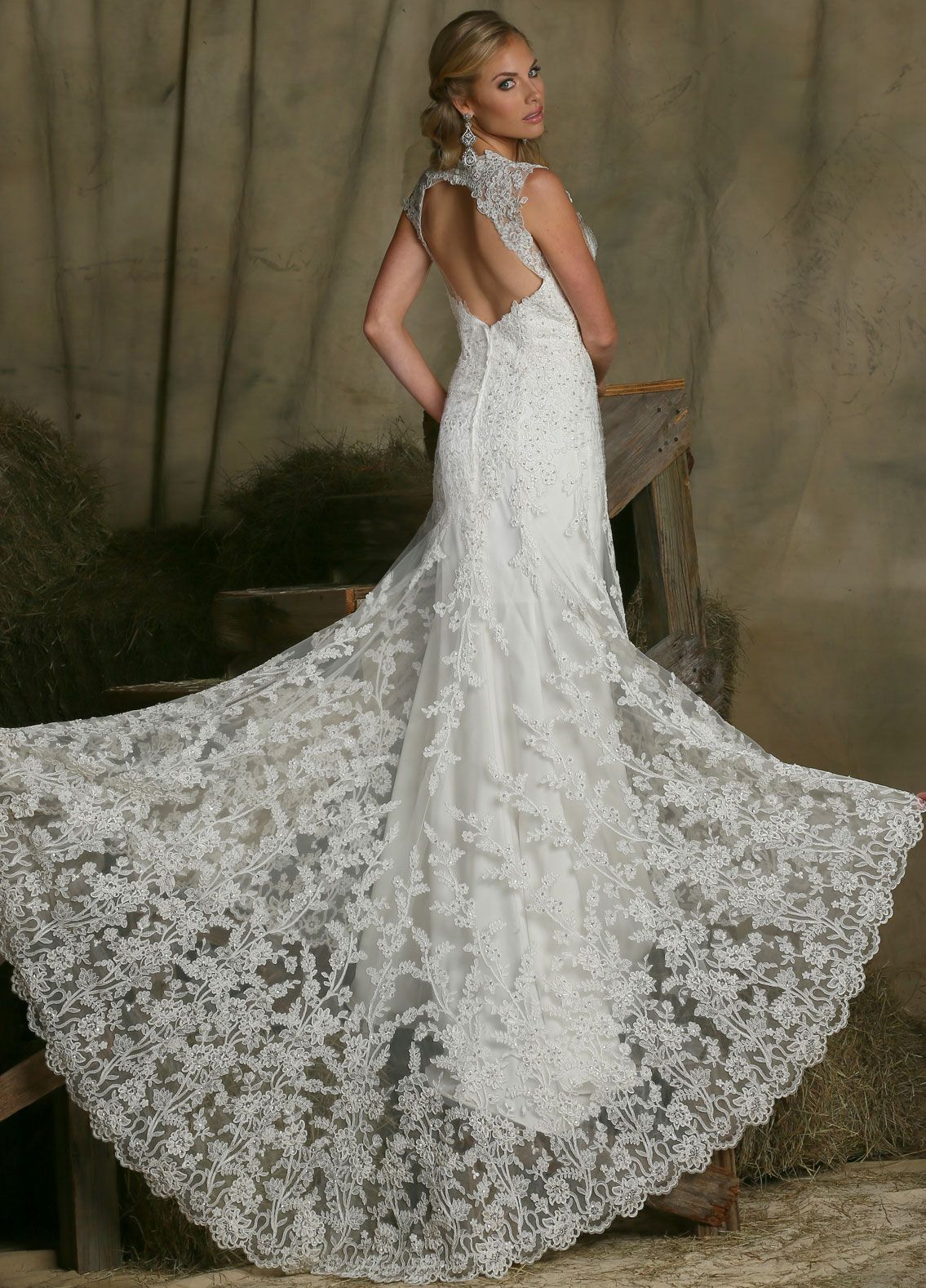 Image showing back view of style wedding dress ideas