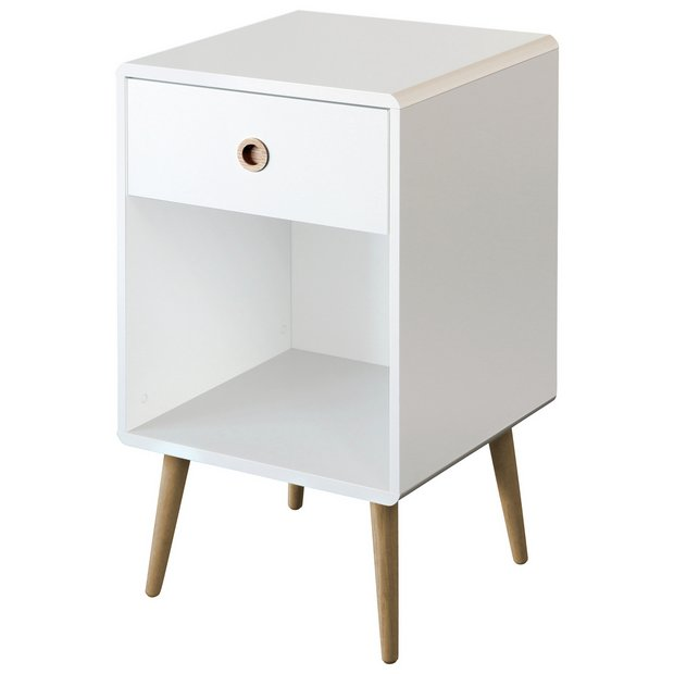 Buy Softline 1 Drawer Bedside Table White Bedside Tables White Bedside Cabinets Bedside Cabinet White Chests