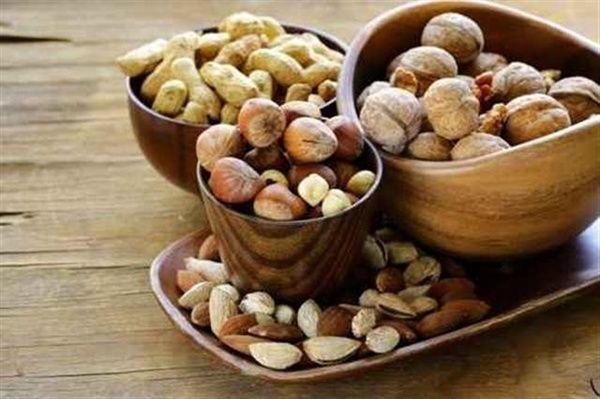 nueces almendras y pistachos