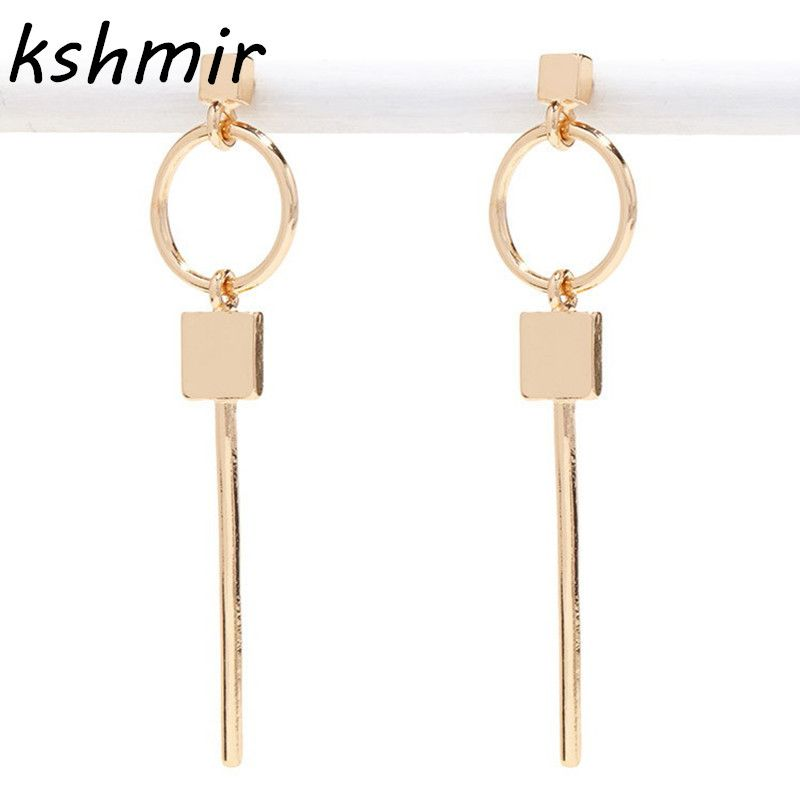 Photo of US $1.19 40% OFF|Popular retro fashion stud earrings square circular assembly long golden earrings 2017 design exaggerated geometry and collars|fashion stud earrings|stud earringsretro stud earrings – AliExpress