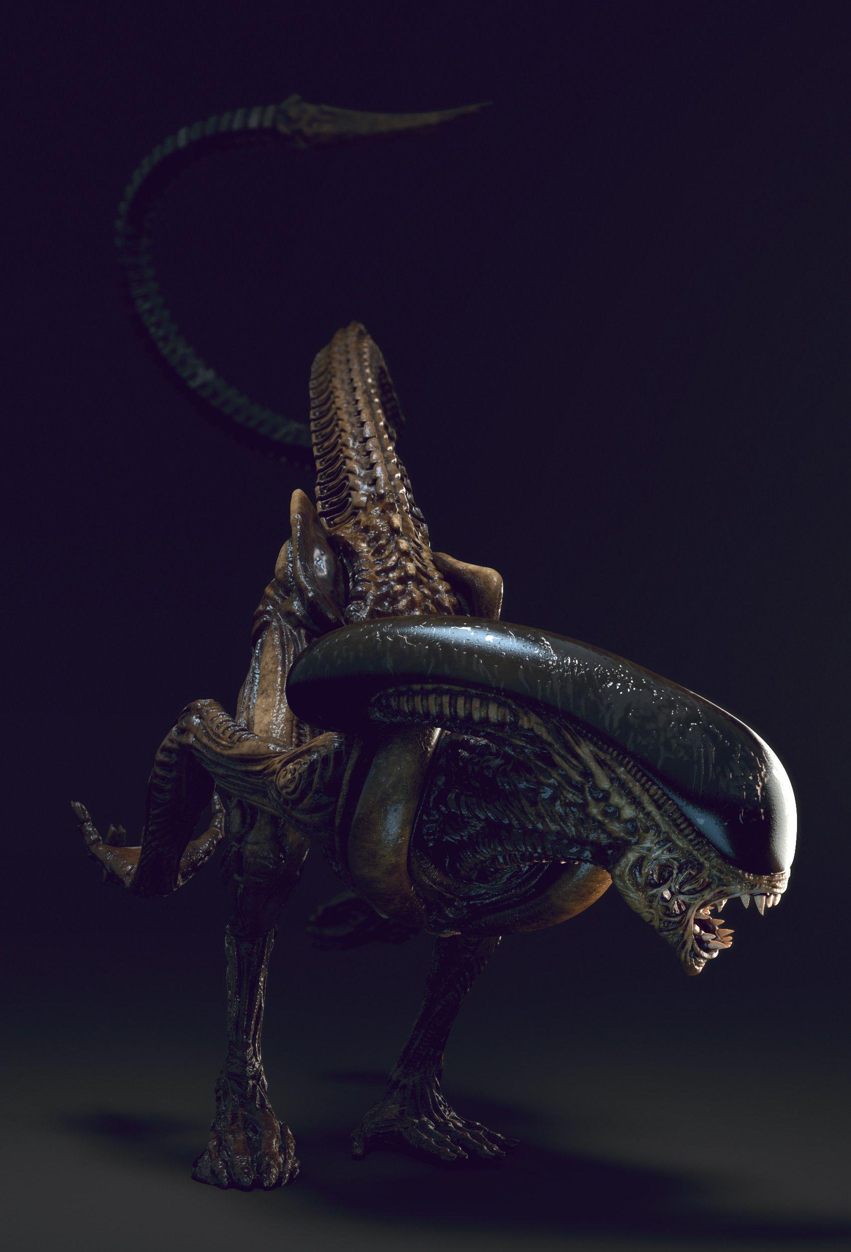 Artstation Alien Runner Alex Vasin Giger Alien Alien Vs