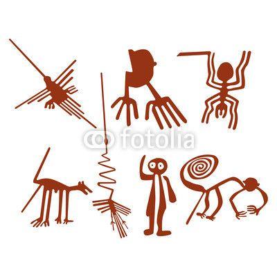 Cuadro Poster Establecer Lineas De Nazca Abstracto Pixers Es Nazca Lines Nazca Art