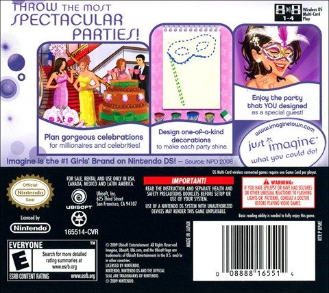 Imagine Party Planner Nintendo DS Video Game Buy Imagine Party