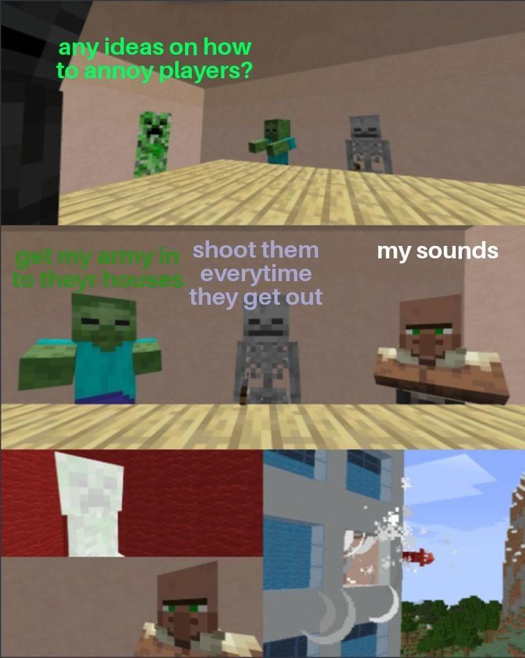 Villager Noises R Minecraftmemes Minecraft Minecraft Memes Minecraft Funny Funny Memes