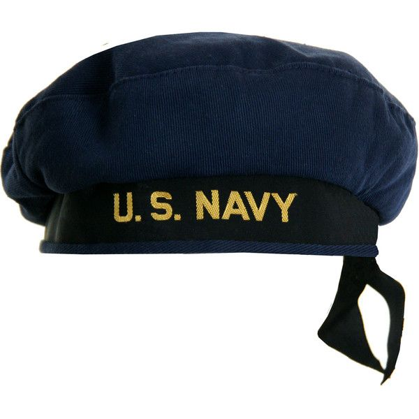 Vintage US Navy Beret Style Sailor Hat (541.920 IDR) ❤ liked on Polyvore  featuring accessories 8854420e9d0