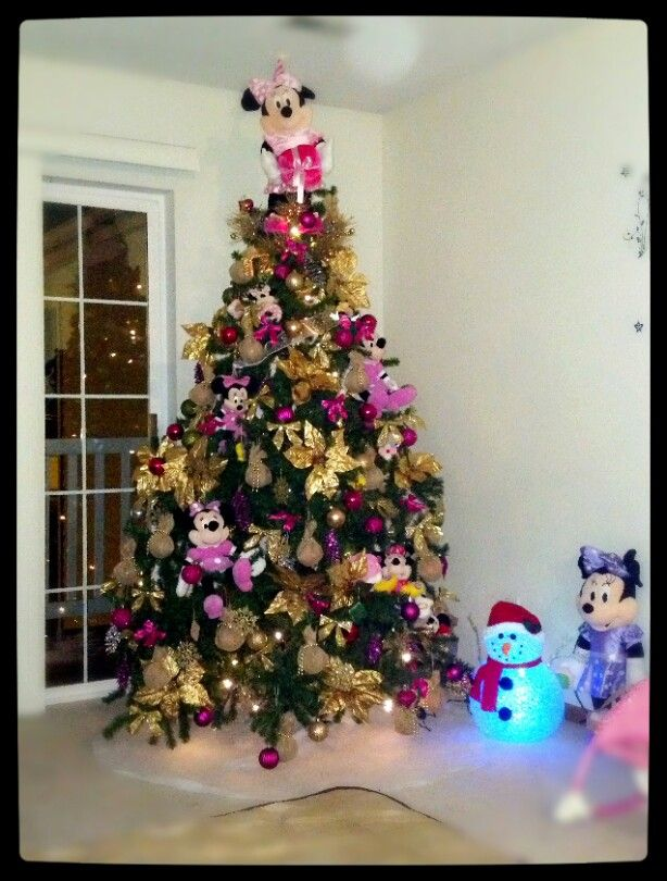 Mickey And Minnie Mouse Christmas Tree Decorations.Minnie Mouse Christmas Tree Xmas Christmas Tree Themes