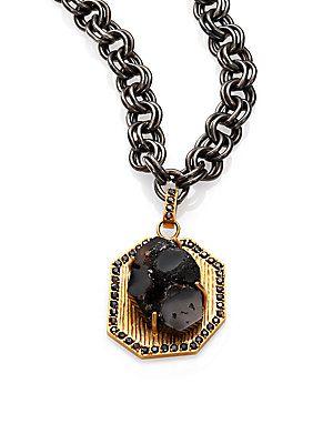 Kelly Wearstler Esker Druzy Pendant Necklace